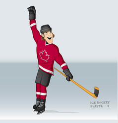 Canadian ice hockey player vector