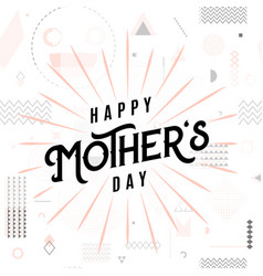 Card for mother day holiday vector