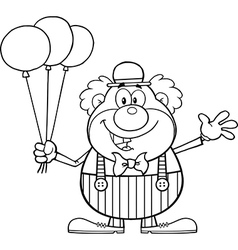 Cartoon clown vector
