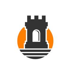 castle wall logo design vector image