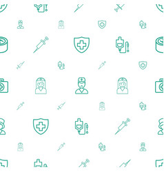 clinic icons pattern seamless white background vector image