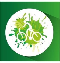 cycling symbol label laurel wreaths vector image