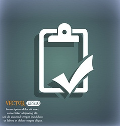Document grammar control Test work complete icon vector