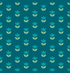 elegant blue color holland tulip repeatable motif vector image