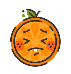 emoji - crying orange isolated vector image vector image