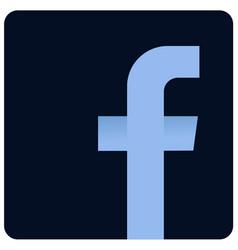 Facebook dark logo icon sign vector