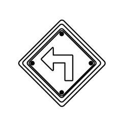 Figure arrow sign inside the metal notice vector