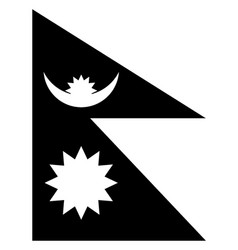 Flag of nepal 2009 vintage vector