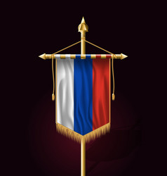flag of russia festive vertical banner wall vector image