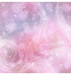 Flower background with cherry blossoms vector