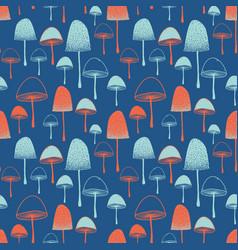 Fly agaric mushrooms seamless pattern vector