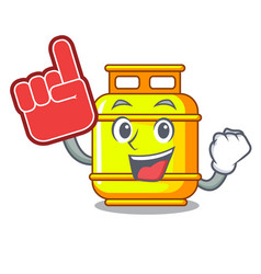 foam finger gas tank cylinder isolated on mascot vector image