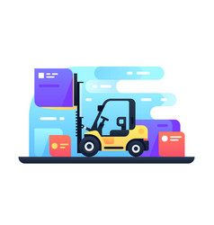 Forklift in stock vector