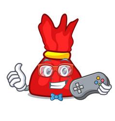 gamer wrapper candy mascot cartoon vector image