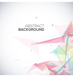 geometric background with polygonal abstract vector image