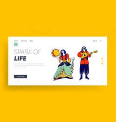 Gipsy culture fair holiday entertainment website vector