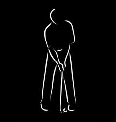 golfer symbol vector image
