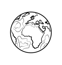hand drawn sketch earth vector image