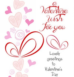 happy valentine wish for you vector image
