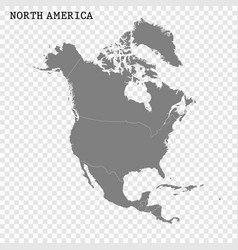 High quality map north america vector