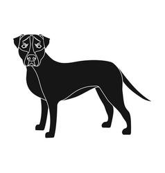 Labrador single icon in black stylelabrador vector