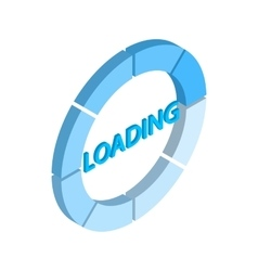 Loading circle sign icon isometric 3d style vector image