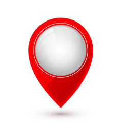 map pointer icon in flat style with shaddow vector image