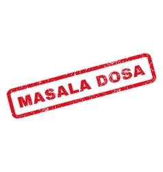 Masala Dosa Rubber Stamp vector image