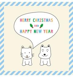 MC and HNY greeting card13 vector image