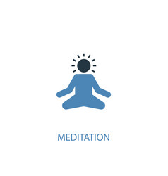 meditation concept 2 colored icon simple blue vector image