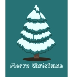 Merry Christmas greeting card Winter holiday vector