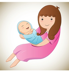 Mother and her baby vector image