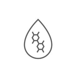 Oil drop line icon vector image