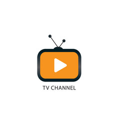 Online tv channel logo design template tv icon vector