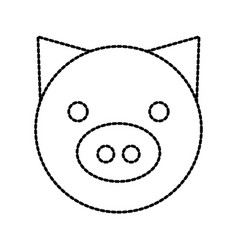 pig domestic farm animal mammal vector image