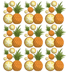 Pineapple seamless pattern design vector