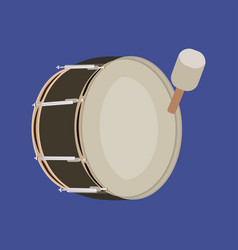 Pipe band bass drum vector