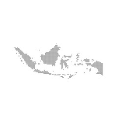 Pixel map of indonesia dotted map of indonesia vector