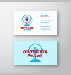Podcast radio show abstract sign symbol or vector