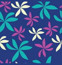 random scatter flowers seamless repeat pattern vector image