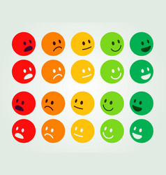 Rating and ranking levels satisfaction colored vector