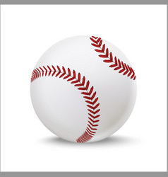 realistic detailed 3d baseball leather ball vector image