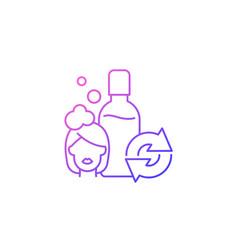 Refillable shampoo bottle gradient linear icon vector