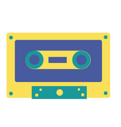 retro cassette tape on white background vector image