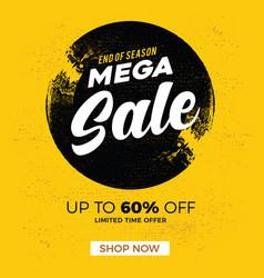 Sale banner mega sale end sale banner vector