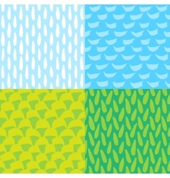 Seamless ink and brush pattern vector image