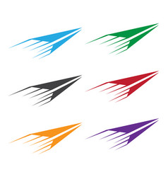 Set colorful paper planes vector