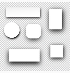 Set of frames on checkered background vector