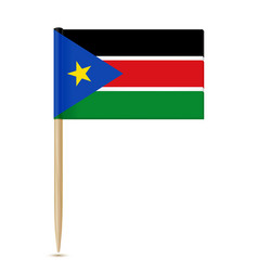south sudan flag toothpick 10eps vector image