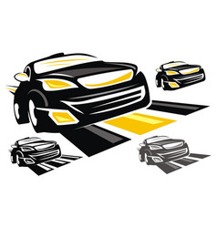 Sport car logo design template vector